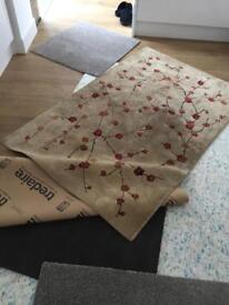 John Lewis rug, Carpet offcuts and underlay piece