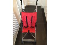 Red Mothercare lightweight stroller £11