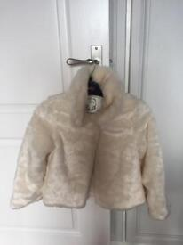 M&S faux fur jacket & shrug 7-8