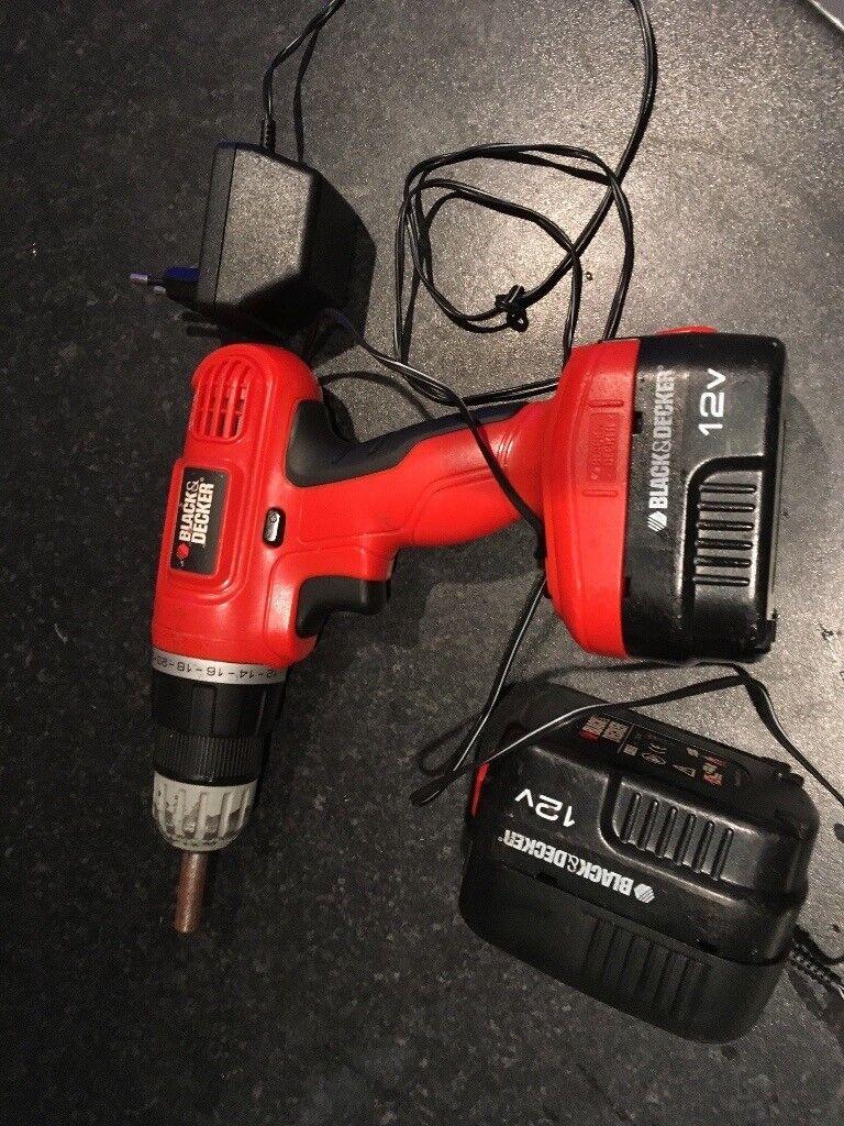 Black&Decker cordless 12V drill