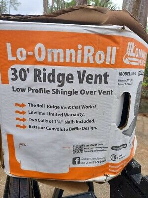 Lomanco Lo-omni Roll Lor-30 30 Ft. Roof Ridge Vent-- Missing Nails