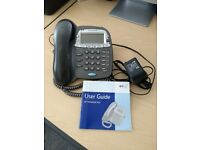 BT Paragon 500 Corded Telephone with Answering Machine, Grey/black.