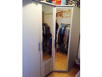 Corner Wardrobe and Triple Wardrobe Set