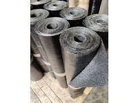 Black Mineral Felt Torch on SBS Roofing IKO Capsheet Cap Sheet 8 m x 1 m 4 kg Very Slight Seconds