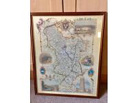 Framed map of Derbyshire