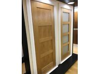 Very cheap pre finished oak shaker interior doors