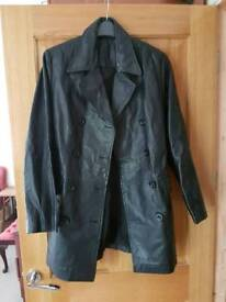 Size 10 long ladies real leather jacket