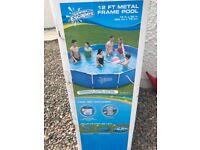 12ft metal framed pool