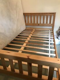 Wooden double bed frame ASAP