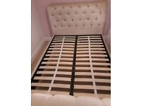Next cream fabric double bed