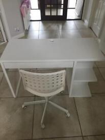 Ikea desk and chair. Excellent condition!