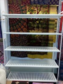 REDUCED - SHELVES - METAL 5 TIER, IKEA SHELVES - SMART AND STURDY - LESS THAN A YEAR OLD - 5 SETS