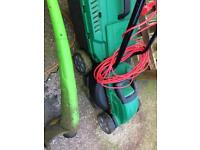 Qualcast lawnmower and strimmer