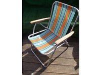 Garden beach deck chair