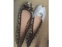 leopard print ladies ballet shoes