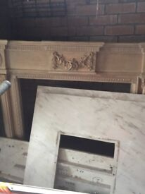 Fire surround plus marble