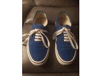 Blue Authentic Vans Size 6 UK
