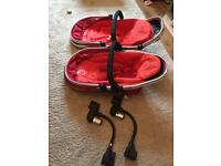 Double icandy pram seats with adapters
