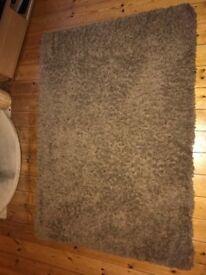 Large Mocha Shagpile rug
