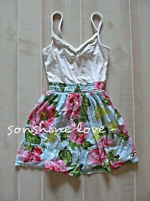 Hollister by Abercrombie Floral Polka Dot Plaid Logo Summer Sun Dress XS S M L