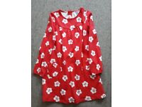 red dress 10Y from john lewis cotton