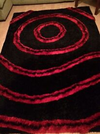 Red and Black Rug Carpet