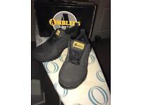 Women's steel toe cap safety shoes