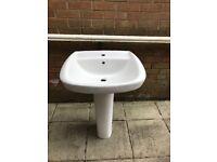 Porcelain bathroom wash hand basin