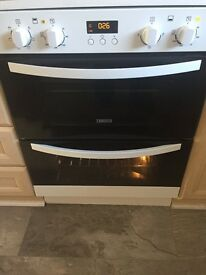 Xanussi double fan oven with grill