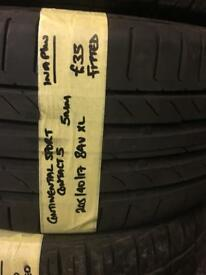 205/40/17 205-40-17 2054017 84V XL CONTINENTAL SPORT CONTACT5 TYRE