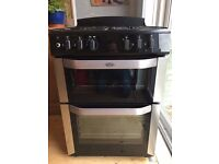 Belling Dual Fuel Cooker - Excellent Condition - Stainless Steel