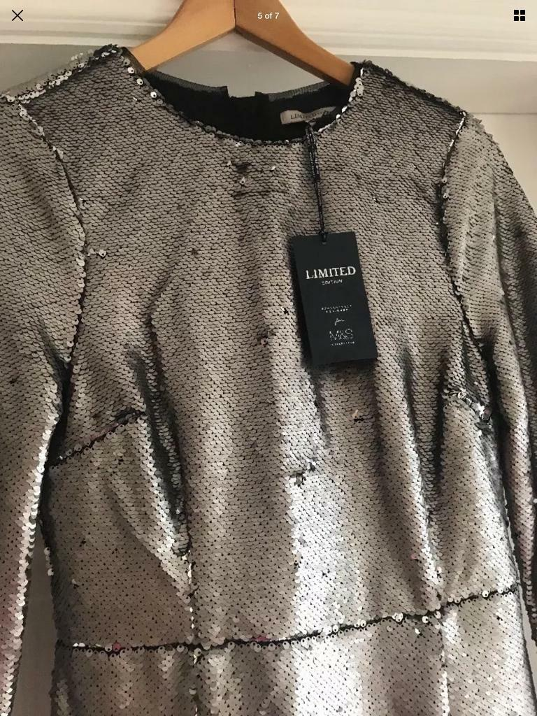 Full silver Sequinned dress Marks & Spencer NEW size 8 - Christmas Party 💕🎄
