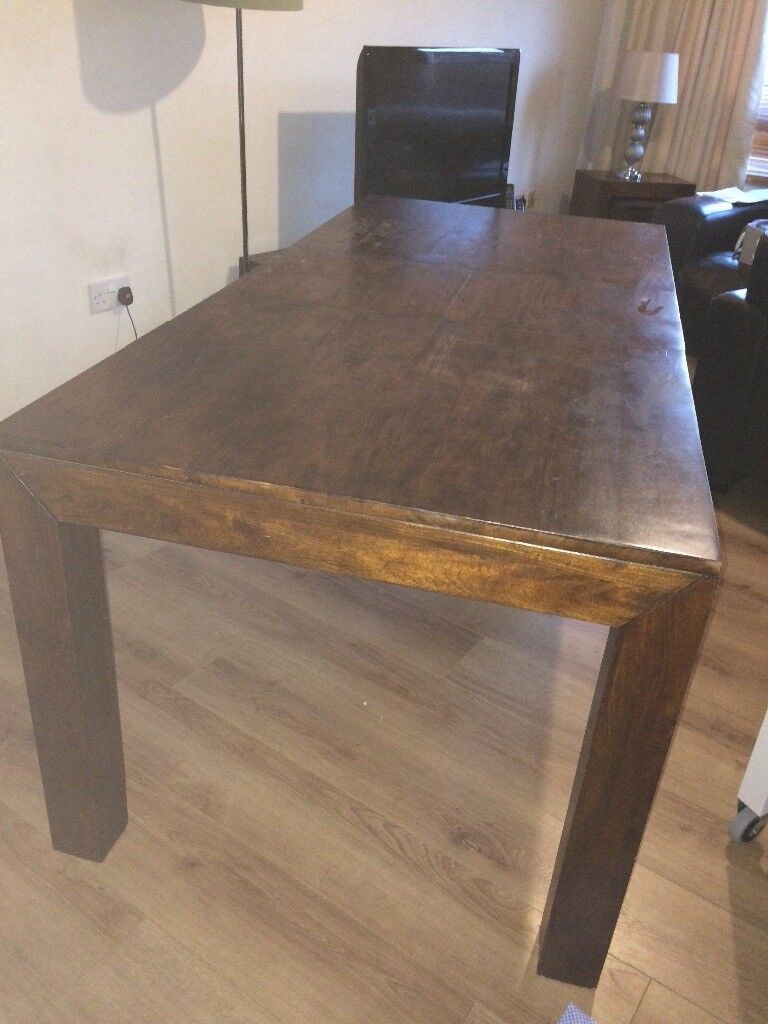 Solid Wood Dark Mango Dining Table