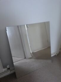 Frameless Mirror. No holes:- suitable for framing