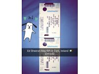 Ed Sheeran May 6th x 2 Cork Tickets