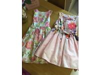 4 Girls dresses size 7 to 8