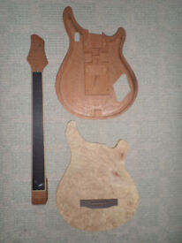 Patrick Eggle unfinished guitar project