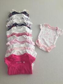 Bundle of 17 short sleeve baby vest