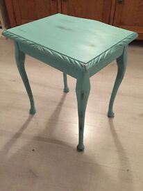 Old style small table-hand painted