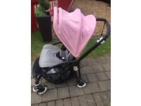 Bugaboo bee 3. Soft pink 3 extendable hood and black chasis