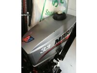 3.3hp Mariner outboard engine 2 stroke in good condition, used