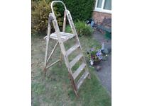 Vintage Decorators Ladders wooden Step Ladders Shabby Chic