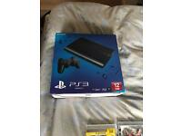 Ps3 slim and 19 games boxed as new condition with controller and leads