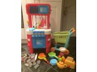 ELC Kitchen, trolley & lots of accessories