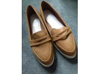Brown next shoes size 6 1/2