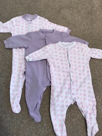 0-3 month sleepsuits