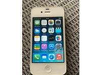 Iphone 4 white 8gb in box with lead .