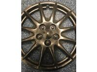 """£45 ONO 15"""" 12 spoke Hubcaps with fake wheels nuts"""