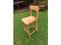 Wooden Bar Stool/Kitchen chairs. Set of 4 chairs