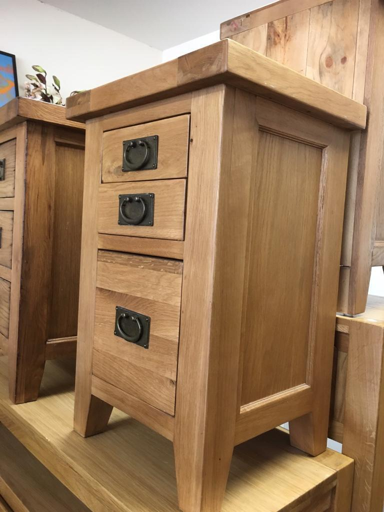 Solid oak bedsidein Southampton, HampshireGumtree - Solid oak 3 drawer bedside70cm high 45cm wide 40cm deepFree local delivery,national delivery can be arranged Please feel free to get in touch if you have any questions Explore furniture 2b Gordon avenuePortswood Southampton SO146WD